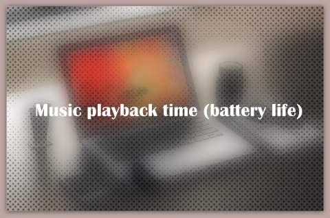 Music playback time (battery life)